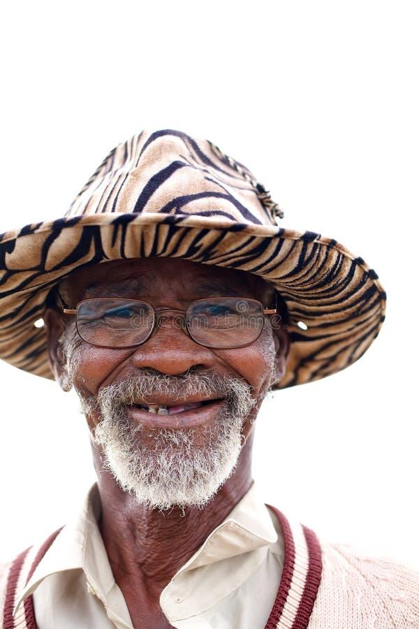 Maschio africano anziano immagine stock