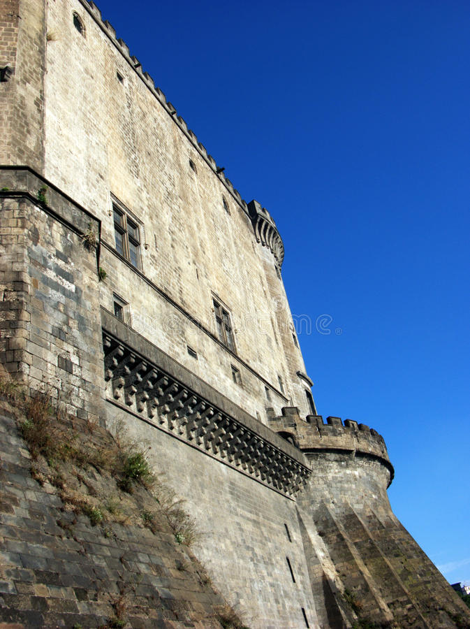 Maschio Angioino castle - Nuovo Castle fortress in Naples,Italy stock images