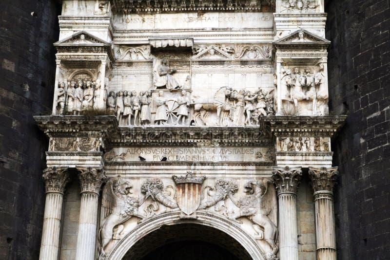 Maschio angioino gate royalty free stock image