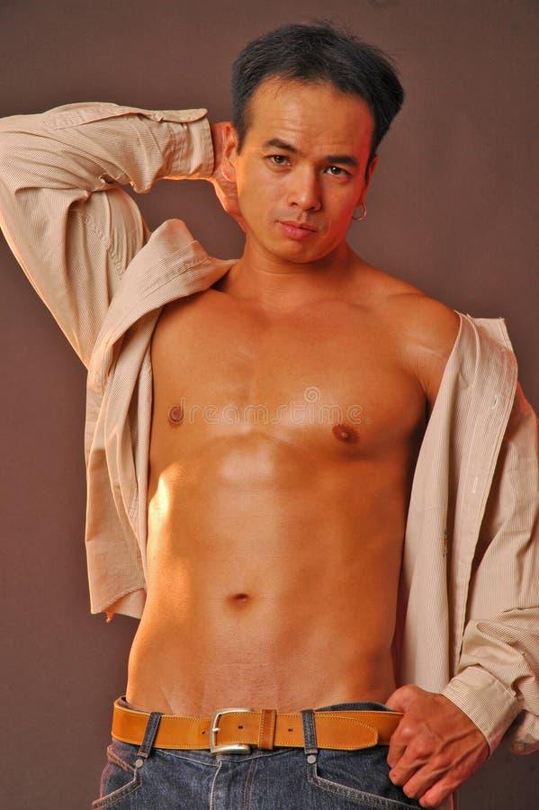 Maschio asiatico sensuale fotografia stock libera da diritti