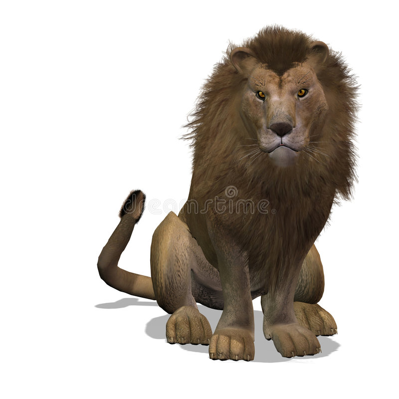 Maschio del leone del grande gatto royalty illustrazione gratis