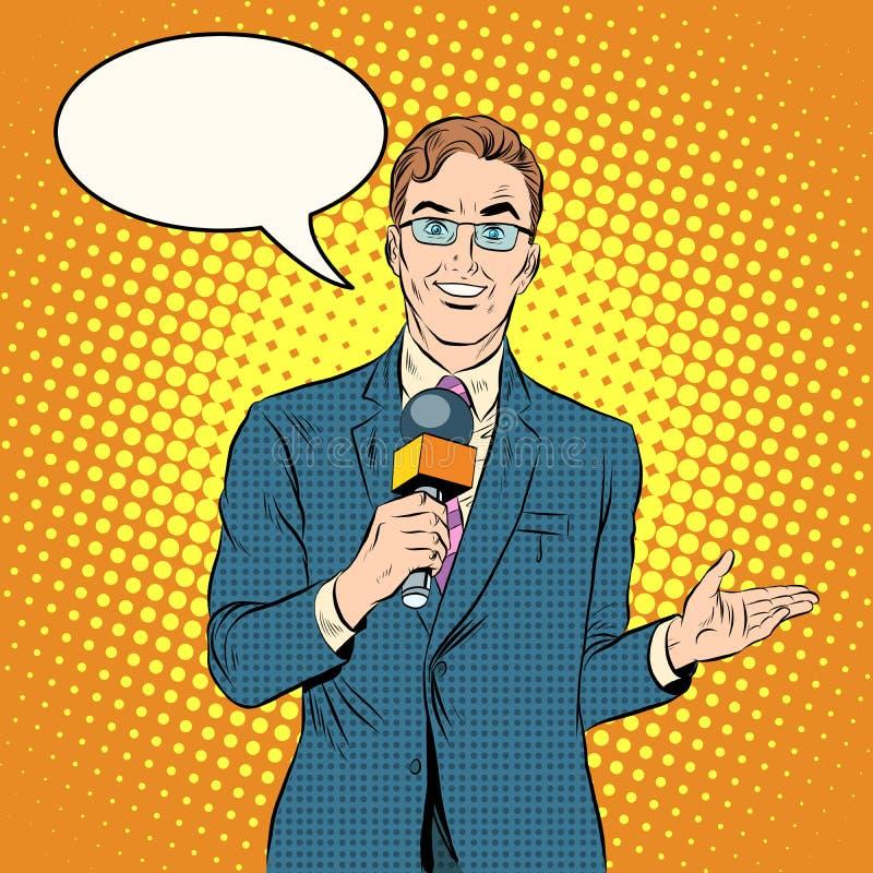 Maschio del reporter della TV royalty illustrazione gratis