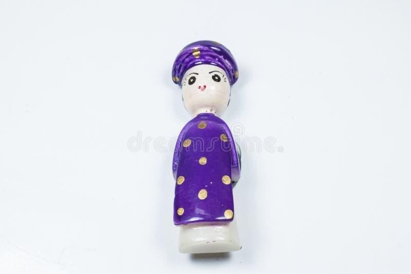 Maschio della bambola e ricordo tradizionale del Vietnam della femmina fotografia stock libera da diritti