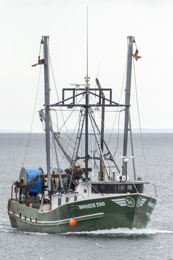Maschio di canguro gigante della barca di pesca professionale II New Bedford prossimo a immagine stock libera da diritti