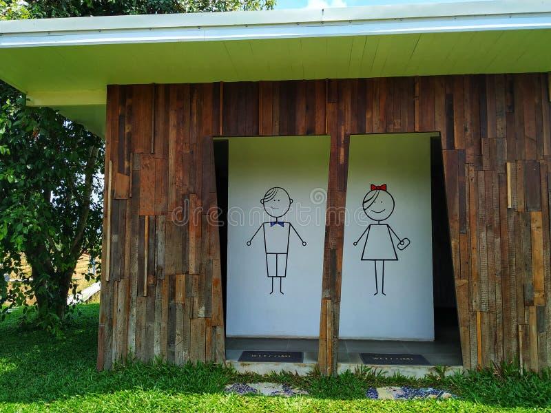 Maschio e bagno femminile di stile immagine stock libera da diritti