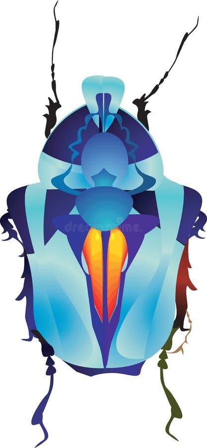 Maschio-Scarabeo royalty illustrazione gratis