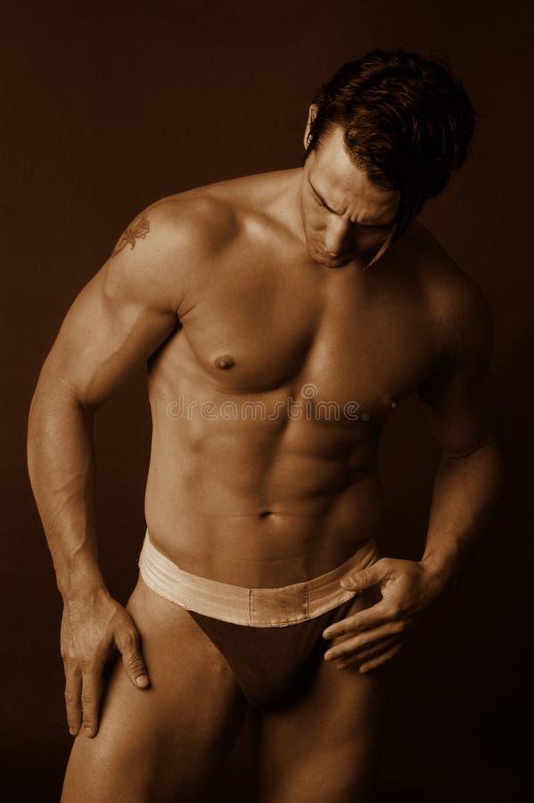Maschio sexy in biancheria intima 5 immagini stock libere da diritti