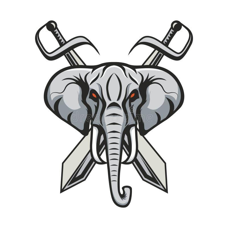 Mascot elephant design illustration emblem sport logo icon isolated stock photos