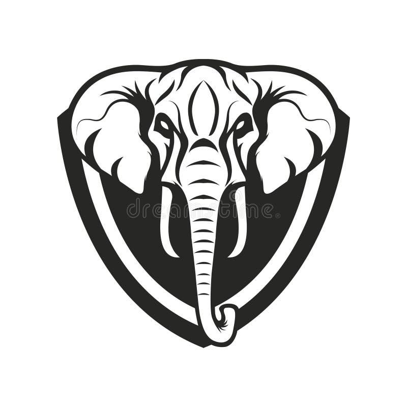 Mascot elephant design illustration emblem sport logo icon isolated stock photography