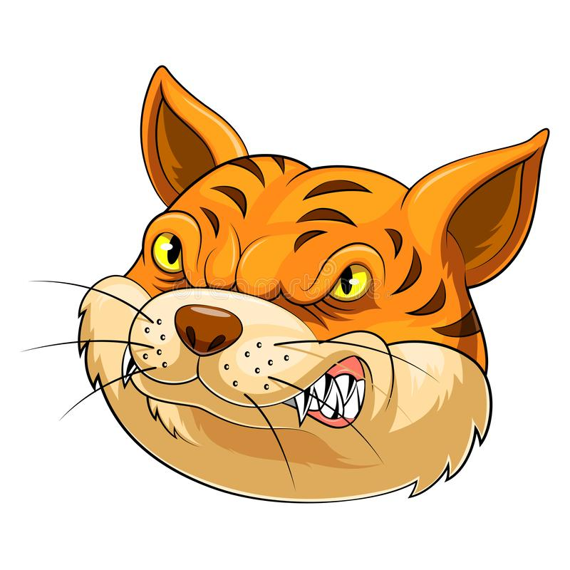 Mascot Head of an cat royalty free stock photo