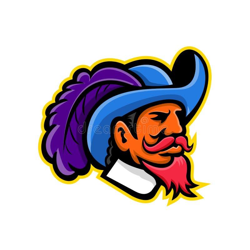 Cavalier Mascot Logo Stock Vector. Illustration Of High