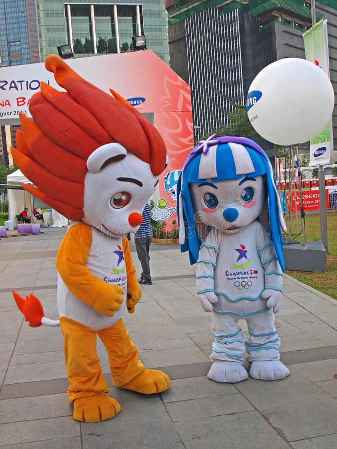 Download Mascot - Lyo & Merly editorial photography. Image of olympics - 15602987