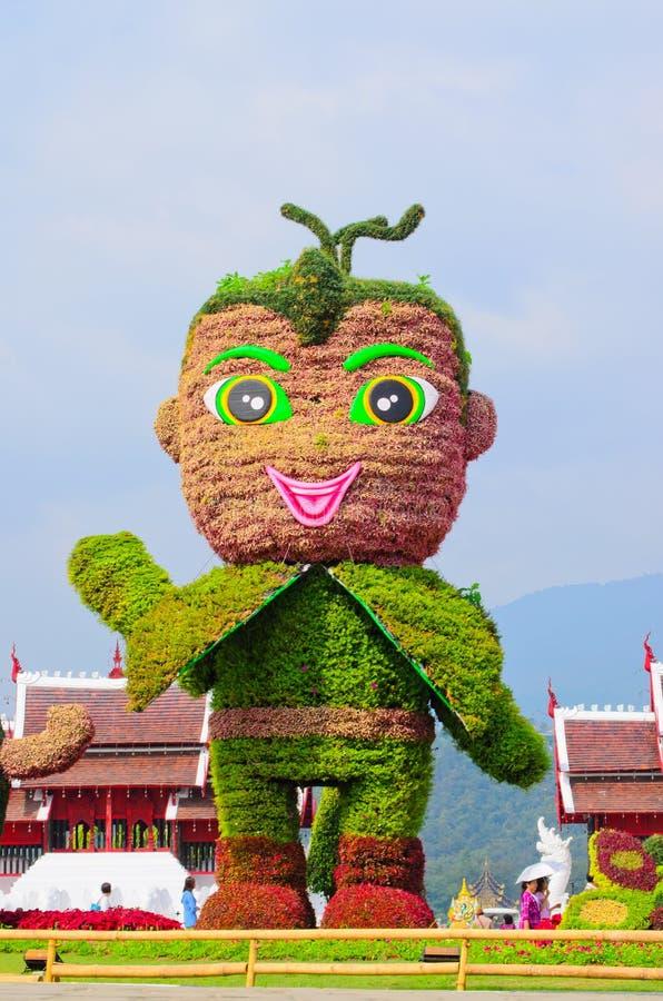 Mascot of Royal Flora 2011-2012 Show at Chiangmai stock photos