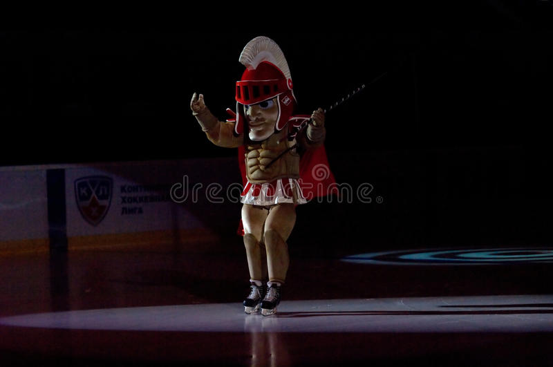 Mascot of the Spartak team royalty free stock photo