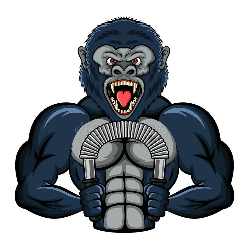 Illustration Of The Strong Gorilla Stock Vector ...