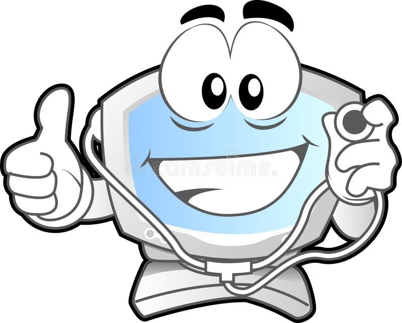 Mascota #2 del ordenador ilustración del vector