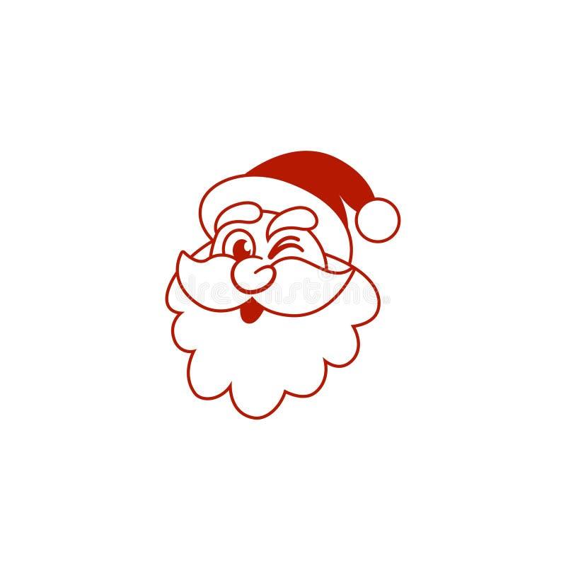 Mascota creativa muy divertida del logotipo del icono de santa para la Navidad libre illustration