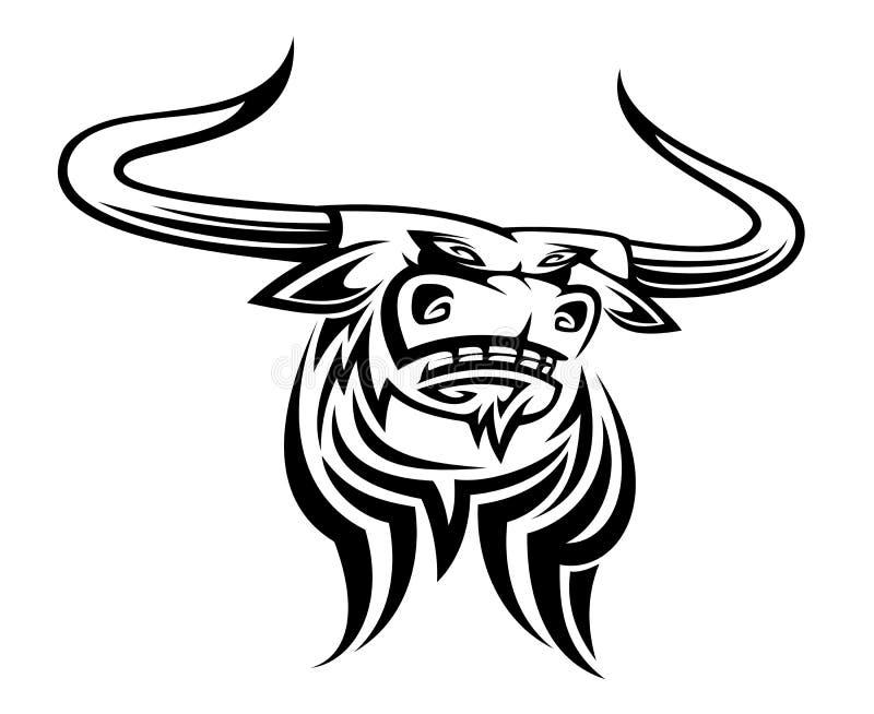 Mascota de Bull stock de ilustración