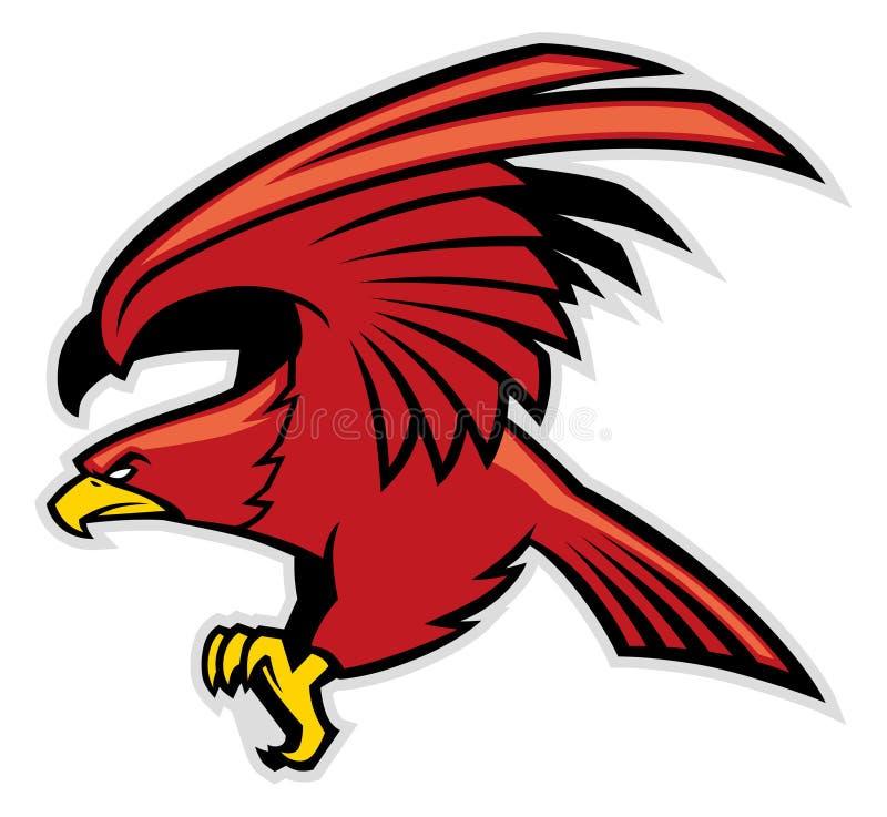 Mascota de Eagle ilustración del vector