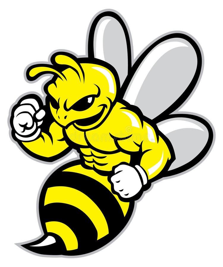 Mascota de la abeja ilustración del vector