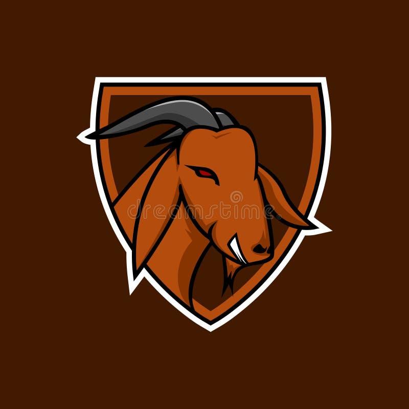 Mascota de la cabra de Brown ilustración del vector