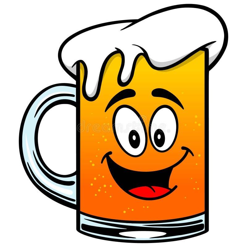 Mascota de la cerveza ilustración del vector