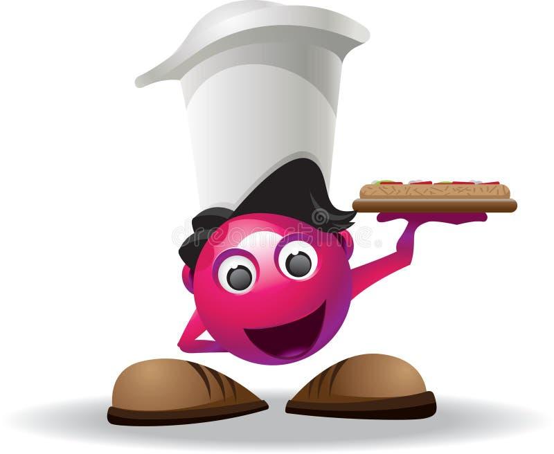 Mascota de la pizza ilustración del vector