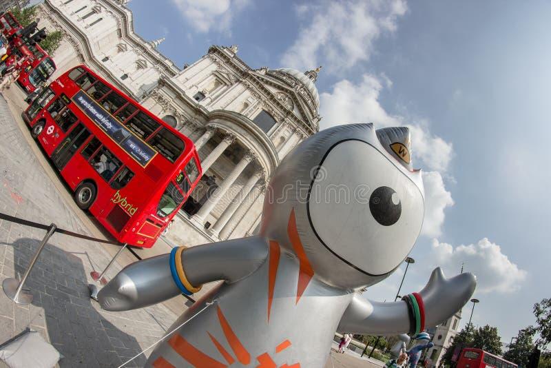 Mascota de las Olimpiadas de Londres 2012 imagen de archivo