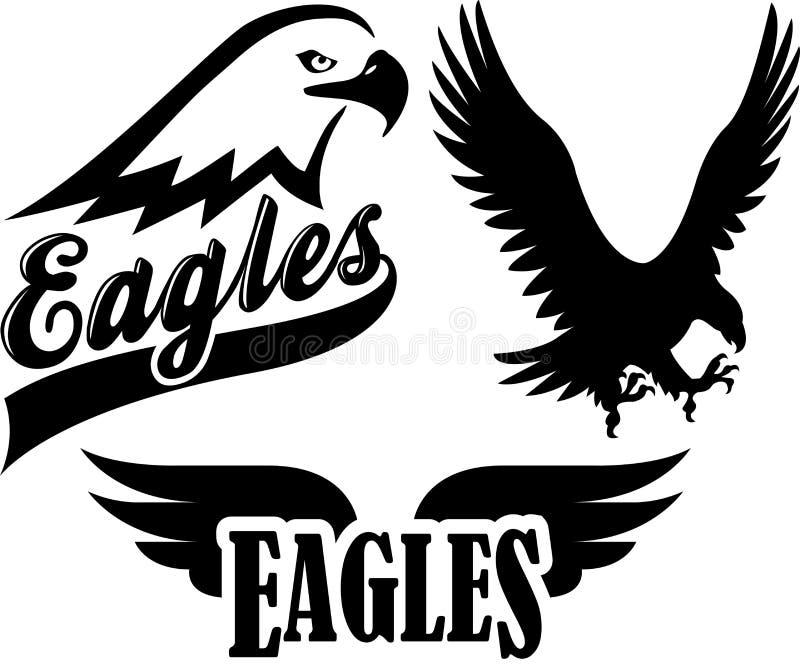 Mascota de las personas del águila stock de ilustración