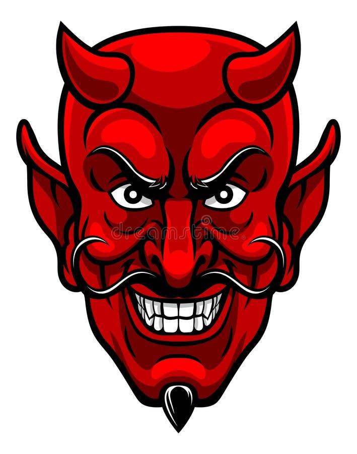 Mascota de los deportes del diablo stock de ilustración