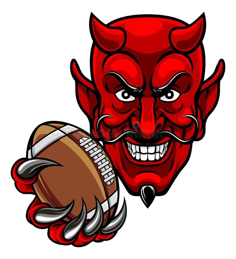 Mascota de los deportes del fútbol americano del diablo libre illustration