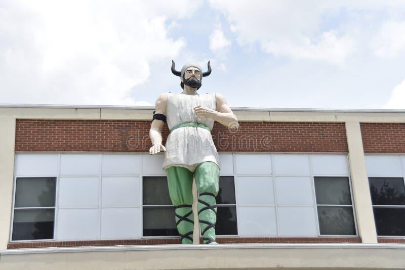 Mascota de los Norsemen de la escuela secundaria de Hillcrest, Memphis, TN fotos de archivo