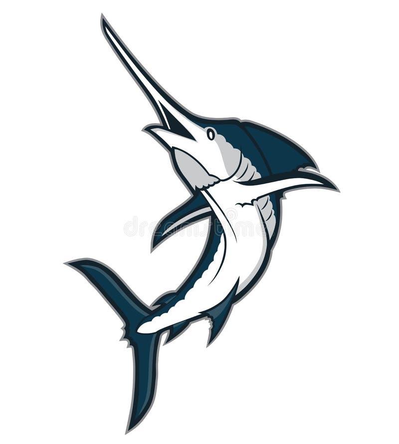 Mascota de los pescados de la aguja ilustración del vector