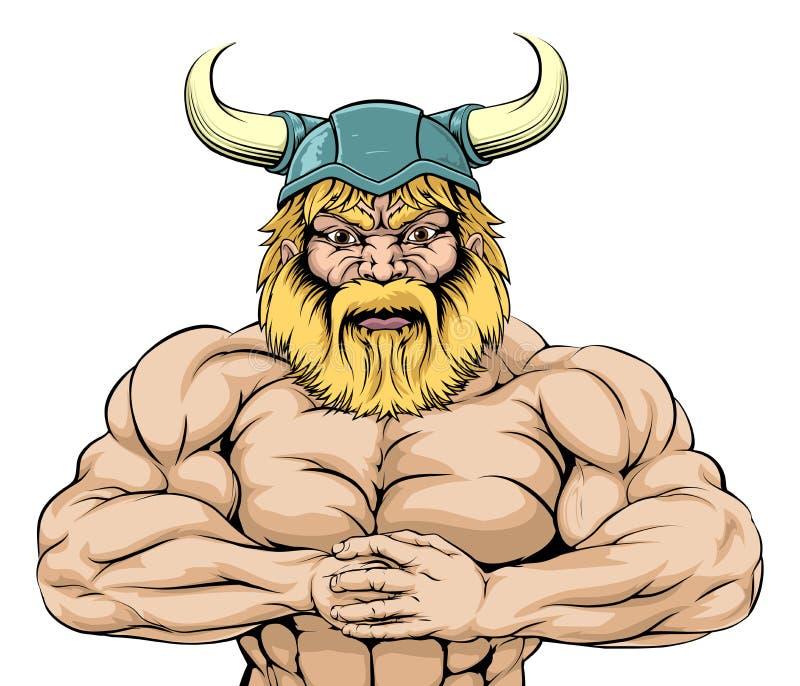 Mascota de Viking Warrior ilustración del vector