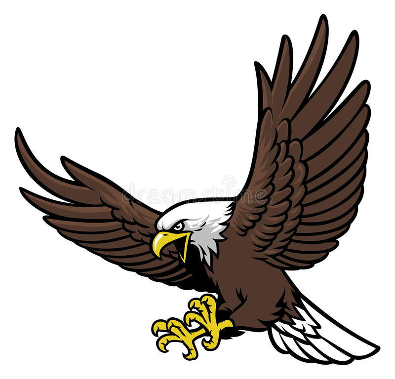 Mascota del águila del vuelo stock de ilustración