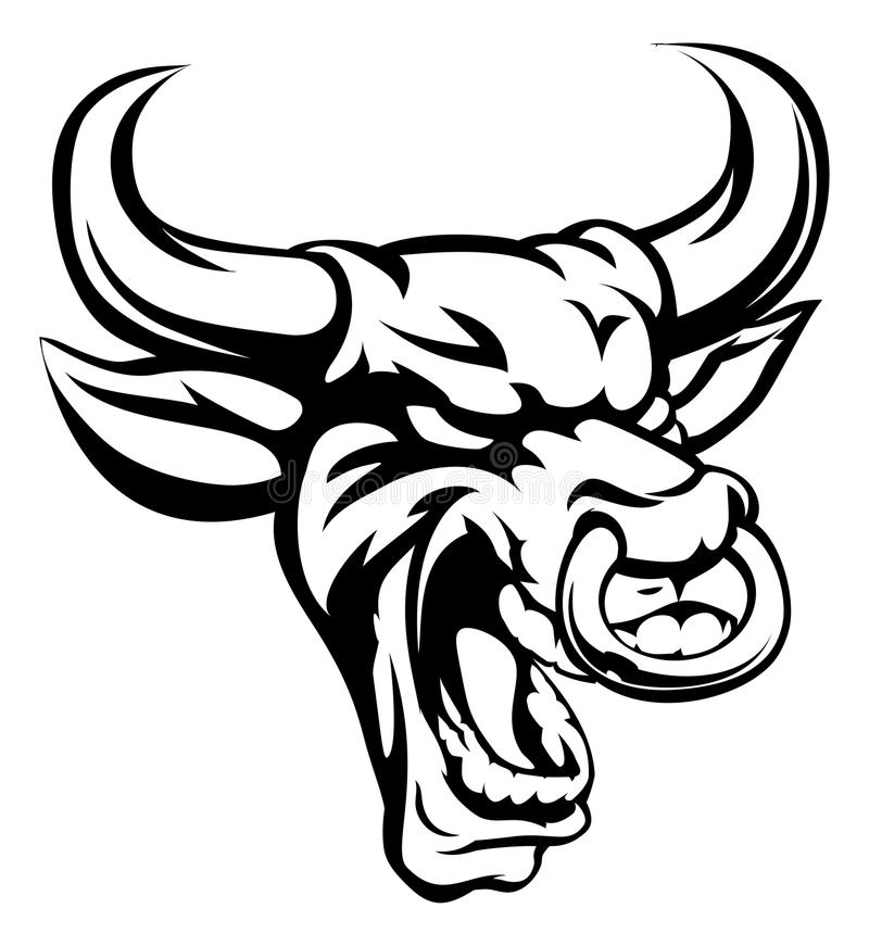 Mascota del animal del medio de Bull libre illustration