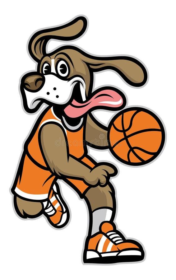 Mascota del baloncesto del perro libre illustration