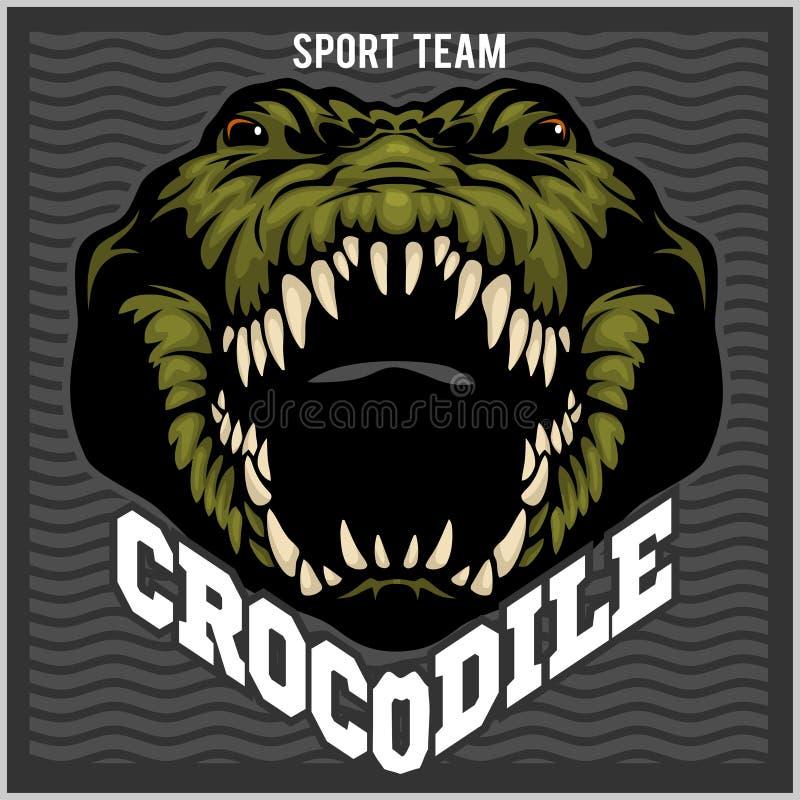 Mascota del cocodrilo para un equipo de deporte Ilustración del vector ilustración del vector