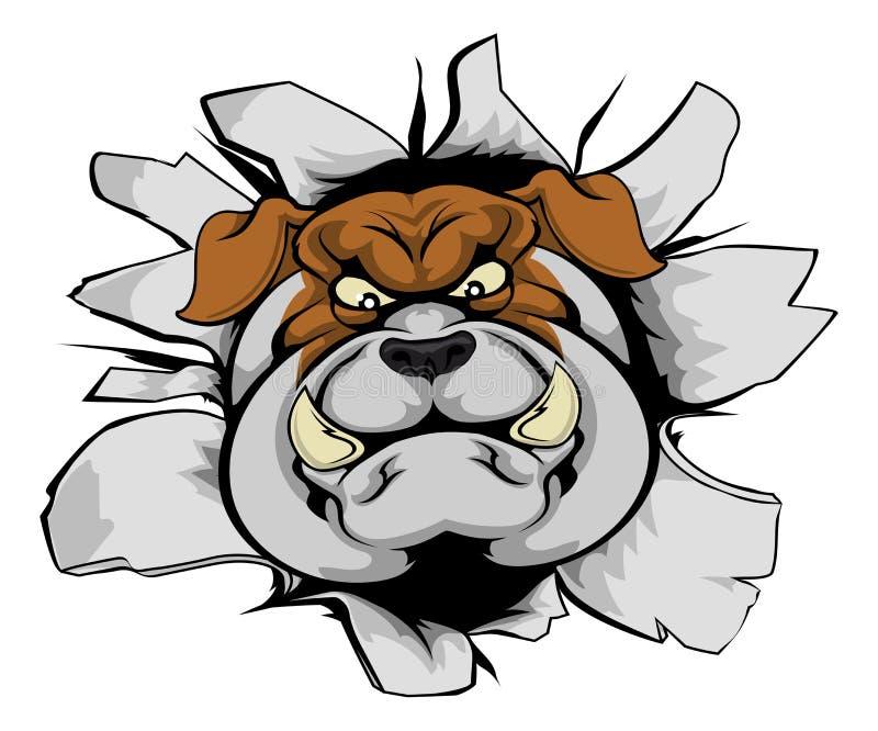 Mascota del dogo que rompe hacia fuera libre illustration