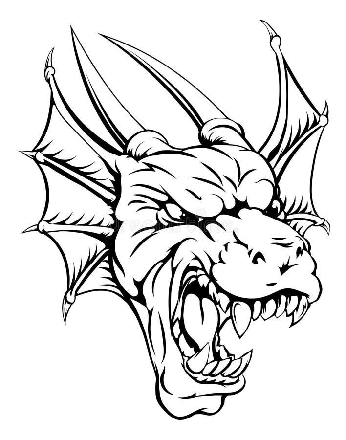 Mascota del dragón ilustración del vector