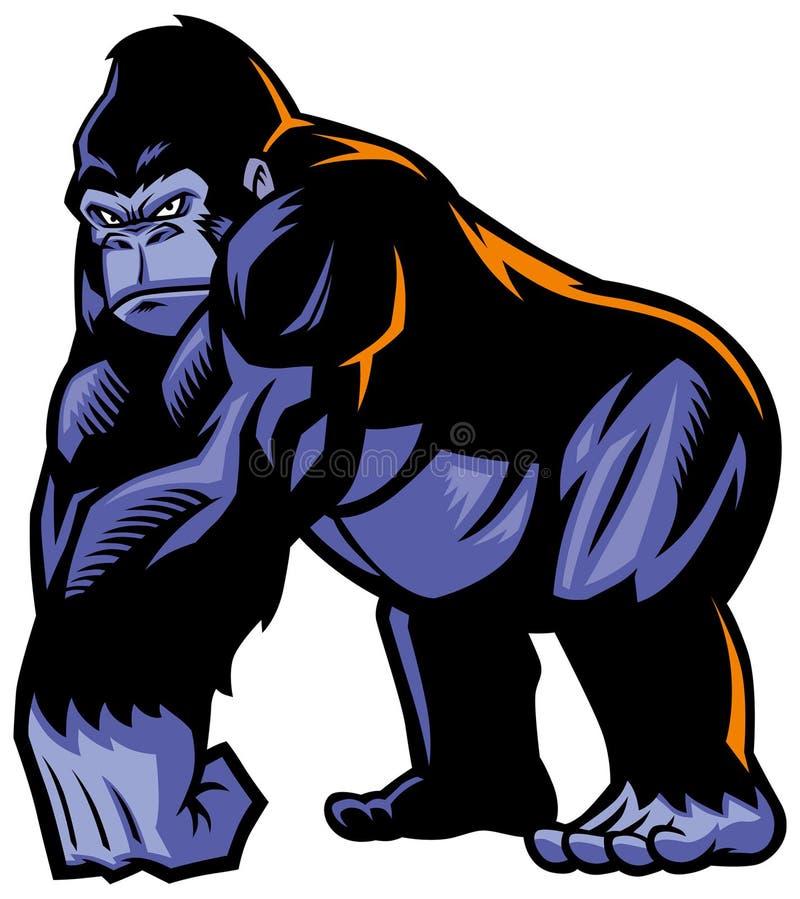 Mascota del gorila stock de ilustración