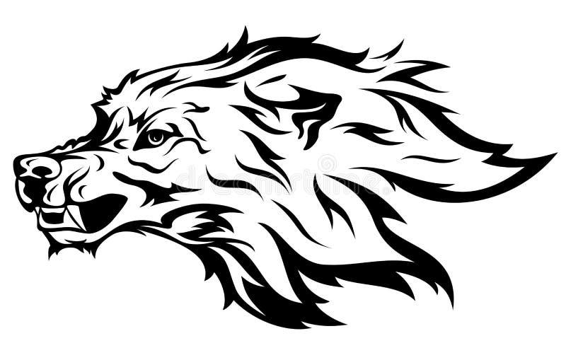 Mascota del lobo stock de ilustración