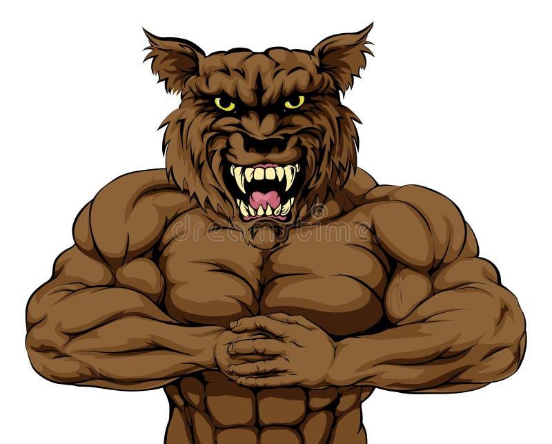 Mascota del lobo libre illustration