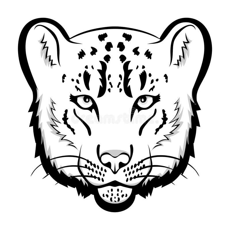 Mascota del logotipo de la onza Ejemplo aislado cabeza del vector de la onza ilustración del vector