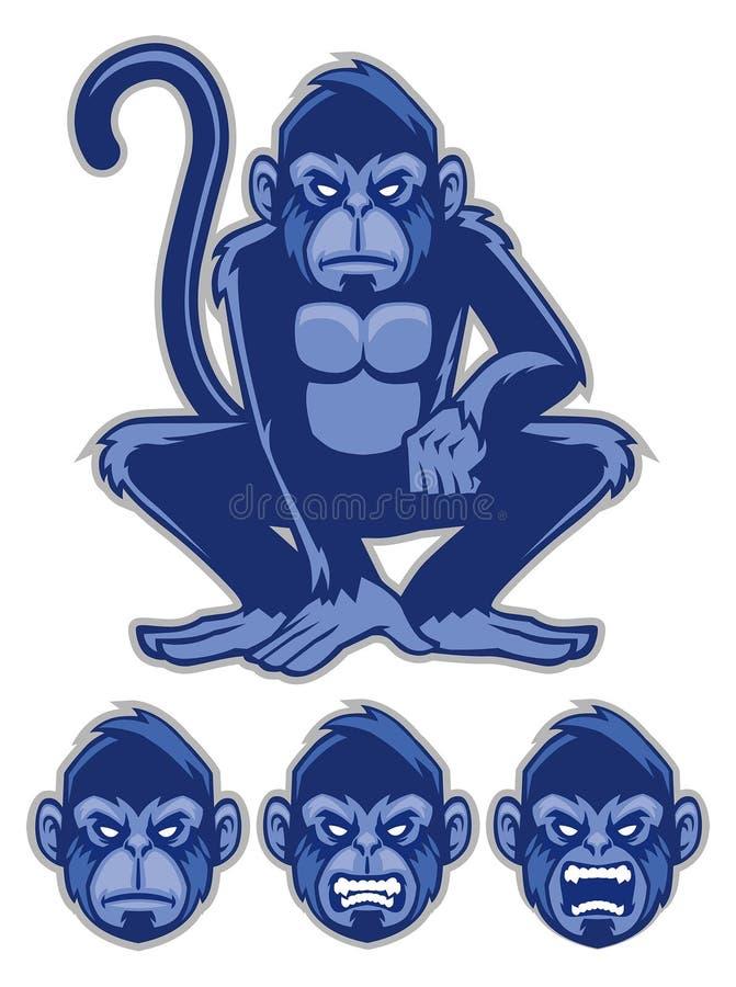 Mascota del mono ilustración del vector