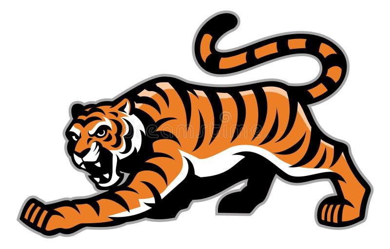 Mascota del tigre stock de ilustración