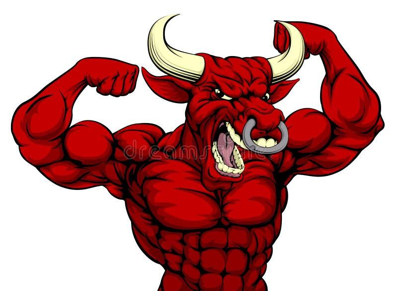 Mascota dura de los deportes de Bull libre illustration