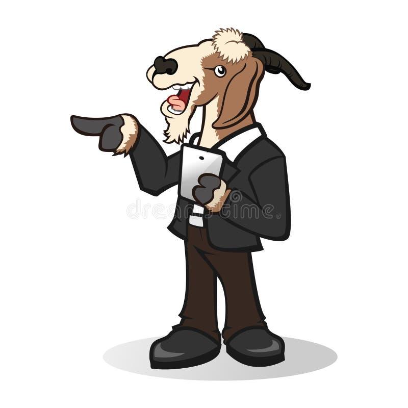 Mascota linda de la cabra ilustración del vector