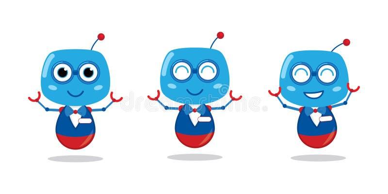 Mascota muy creativa del logotipo del robot ilustración del vector