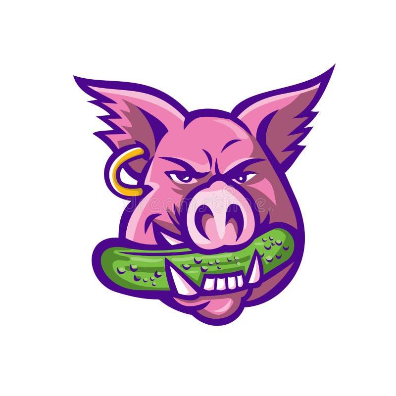 Mascota penetrante de la salmuera del cerdo rosado libre illustration